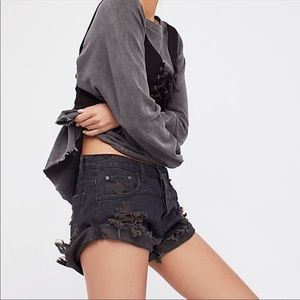 One Teaspoon Black Bandit Shorts